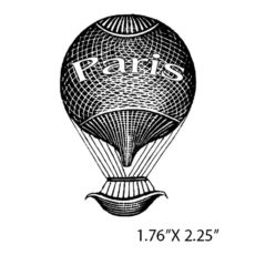 CTP4275C Paris Air Rubber Stamp