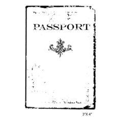 CTP433E Passport Rubber Stamp