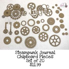 Steampunk Journal Chipboard Pieces