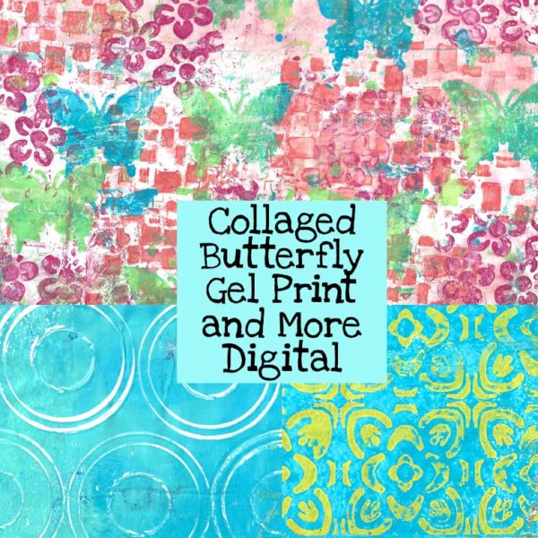 Collaged Butterfly Gel Print and More Digital Download