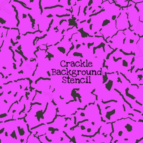 Crackle Background Stencil