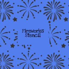 Fireworks Stencil