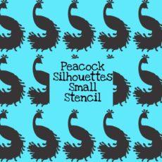 Peacock Silhouettes Small Stencil