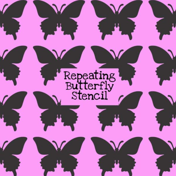 Repeating Butterfly Stencil