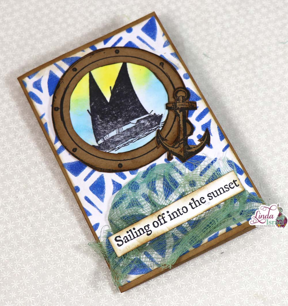 Sailing off into the Sunset Card Tutorial