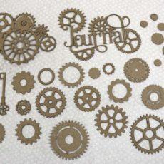Steampunk Journal Chipboard Pieces