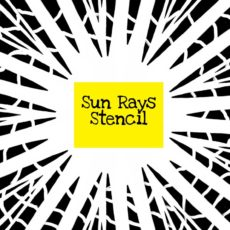 Sun Rays Stencil