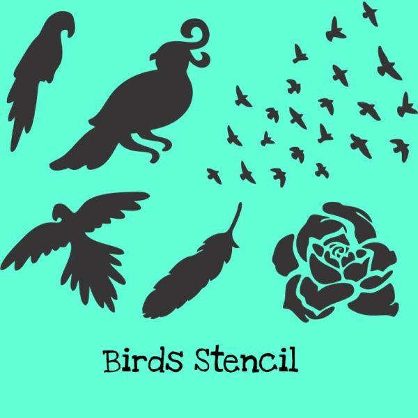 Birds Stencil