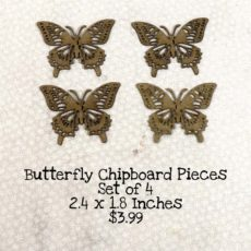 Butterfly Chipboard Pieces