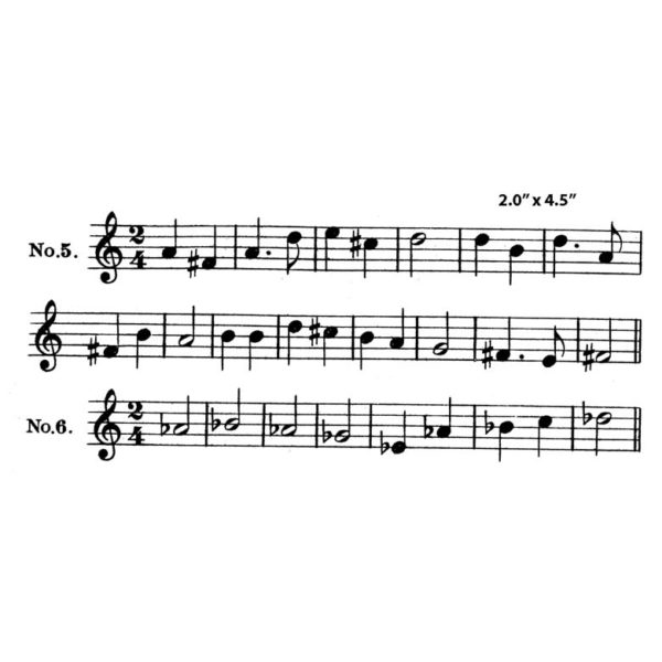 CHF210F Sheet Music Rubber Stamp