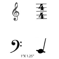 CHF211E Music Cube Rubber Stamps