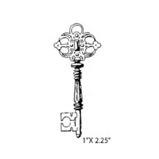 CPA113B Jewel Key Rubber Stamp