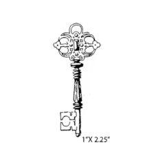 CPA113B Jewel Key Rubber Stamp