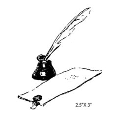 CRR115C Ink Well Rubber Stamp