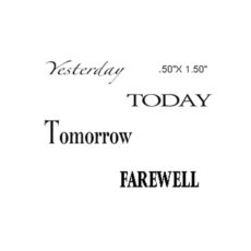 CTP401E Farewell Quartet Rubber Stamps