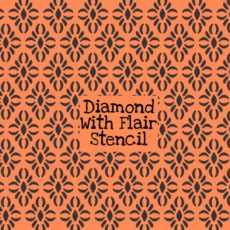 Diamond with Flair Stencil