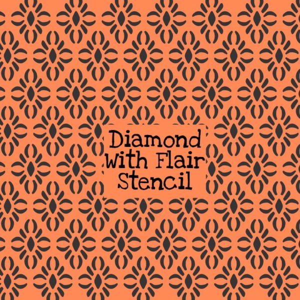 Diamond with Flair Stencil