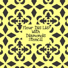 Fleur Dis Lis With Diamonds Stencil