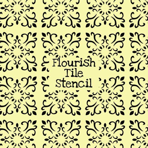 Flourish Tile Stencil