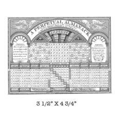 HC519G Almanac Rubber Stamp