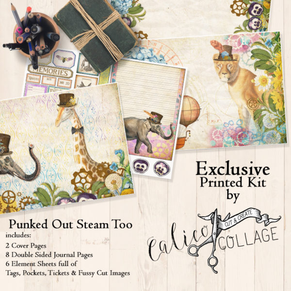 Exclusive Punked Out Steam Too Printed Journal Kit