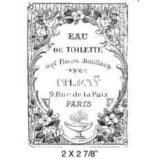 CBA610D Eau De Toilet Rubber Stamp