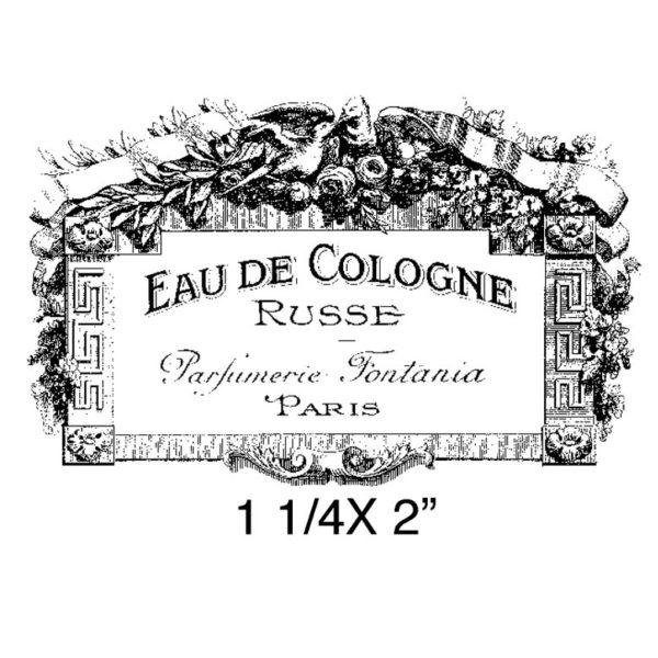 CBA613C Eau De Cologne Rubber Stamp
