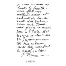 CPR111E French Correspondence Rubber Stamp