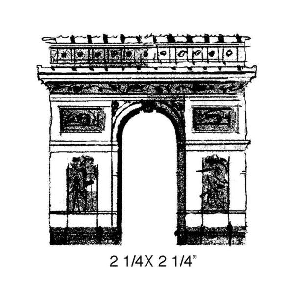 CPR115D Arc De Triomphe Rubber Stamp
