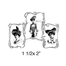 CPR1186C Trois Femmes Rubber Stamp