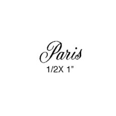 CPR118B Paris Rubber Stamp