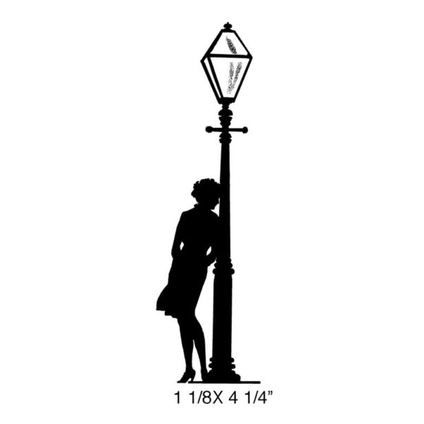 CPR123F Lamppost Rendezovs Rubber Stamp