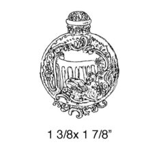 CPR211B Perfume Bottle Rubber Stamp