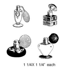 CPR213D Perfume Cube Rubber Stamps