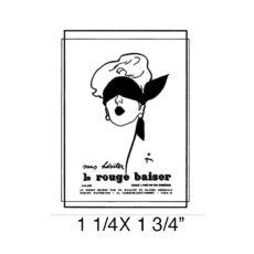 CPR218B Le Rouge Rubber Stamp