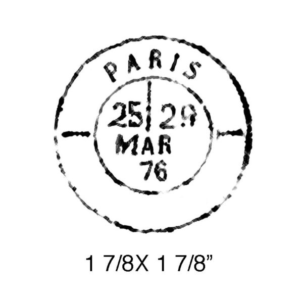 CPR220C Paris Cancellation Rubber Stamp