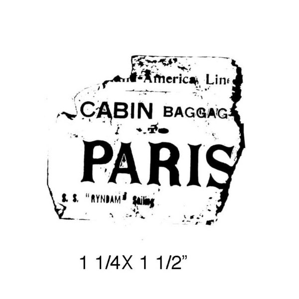 CPR302C Ticket Fragment Rubber Stamp