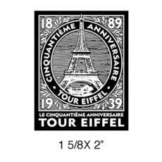 CPR303C Tour Eiffel Rubber Stamp