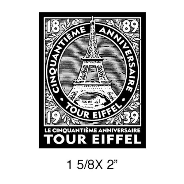 CPR303C Tour Eiffel Rubber Stamp