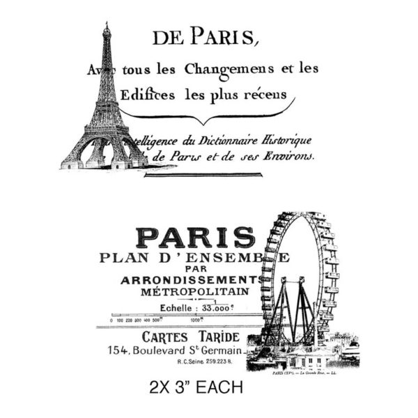 CPR304G De Paris Duo Rubber Stamps