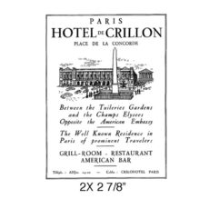 CPR305E Paris Hotel Rubber Stamp