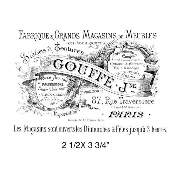 CPR307E Magasins De Meubles Rubber Stamp