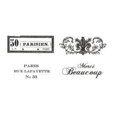 CPR308E Merci Beaucoup Cube Rubber Stamps