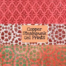 Copper Steampunk Gel Prints Digital Download
