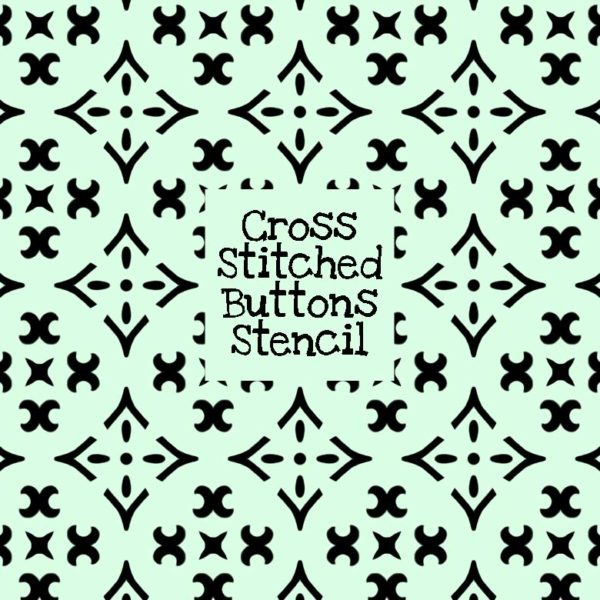 Cross Stitched Buttons Stencil