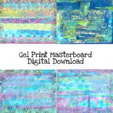 Gel Print Masterboard Digital Download