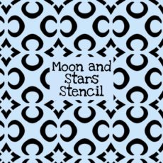 Moon and Stars Stencil