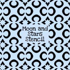Moon and Stars Stencil