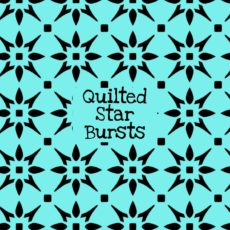 Quilted Star Bursts Stencil