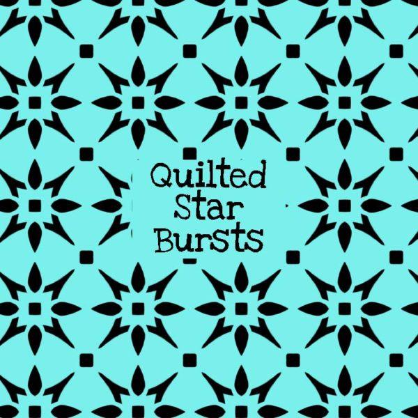 Quilted Star Bursts Stencil